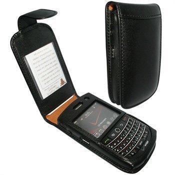 BlackBerry Bold 9650 Tour 9630 Piel Frama Classic Snap Nahkakotelo Musta