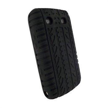 BlackBerry Bold 9700 9780 iGadgitz Rengaskuvioitu Silikonikotelo Musta