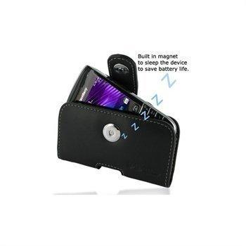 BlackBerry Bold 9790 PDair Vaakakotelo Nahka Musta