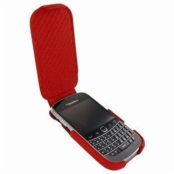 BlackBerry Bold 9900 9930 Piel Frama iMagnum Nahkakotelo Punainen