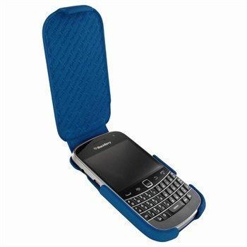 BlackBerry Bold 9900 9930 Piel Frama iMagnum Nahkakotelo Sininen