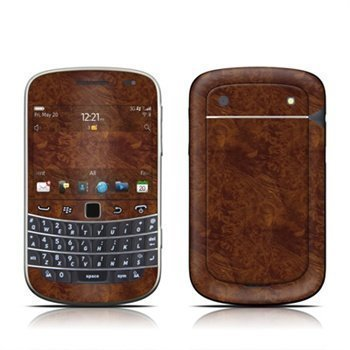 BlackBerry Bold Touch 9900 9930 Dark Burlwood Skin