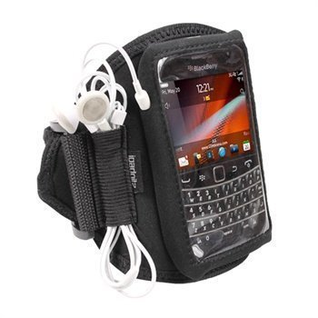 BlackBerry Bold Touch 9900 9930 iGadgitz Neoprene Armband Black