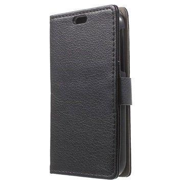 BlackBerry Classic Kuvioitu Lompakkokotelo Musta