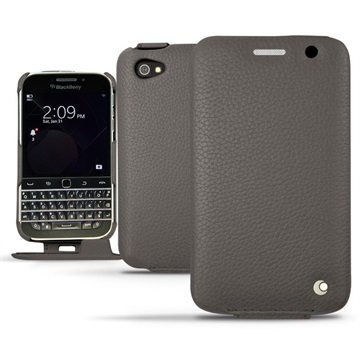 BlackBerry Classic Noreve Tradition Avattava Nahkakotelo Ambition AnthraciteÂ