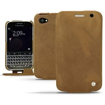 BlackBerry Classic Noreve Tradition Avattava Nahkakotelo Exception Sable Vintage