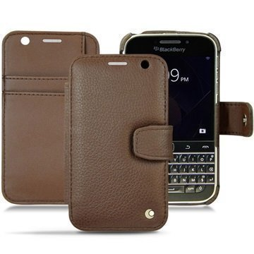 BlackBerry Classic Noreve Tradition B Wallet Nahkakotelo Ambition Kastanjanruskea