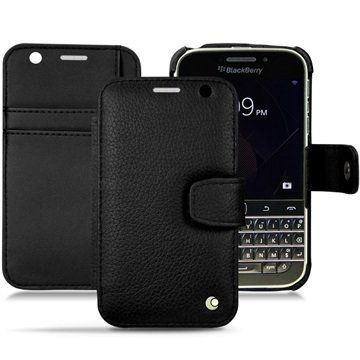 BlackBerry Classic Noreve Tradition B Wallet Nahkakotelo Ambition Pikimusta