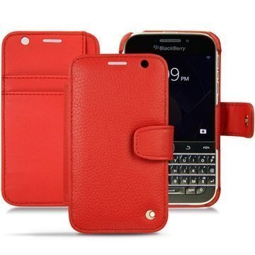 BlackBerry Classic Noreve Tradition B Wallet Nahkakotelo Ambition Tomaatti