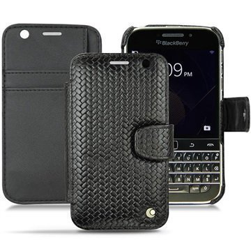 BlackBerry Classic Noreve Tradition B Wallet Nahkakotelo Horizon Abaca Musta