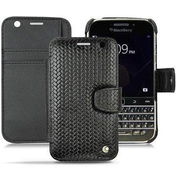 BlackBerry Classic Noreve Tradition B Wallet Nahkakotelo Horizon Abaca Musta