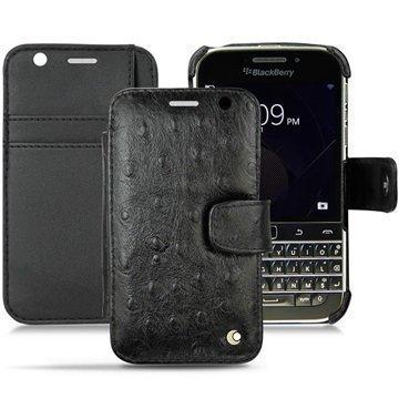 BlackBerry Classic Noreve Tradition B Wallet Nahkakotelo Horizon Autruche Musta