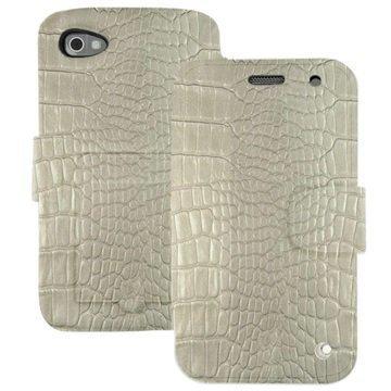BlackBerry Classic Noreve Tradition B Wallet Nahkakotelo Horizon Crocodile Maidonvalkoinen
