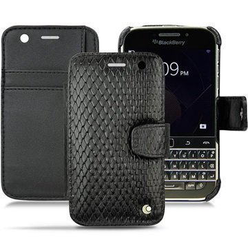 BlackBerry Classic Noreve Tradition B Wallet Nahkakotelo Horizon Serpent Musta