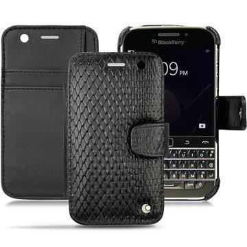 BlackBerry Classic Noreve Tradition B Wallet Nahkakotelo Horizon Serpent Musta