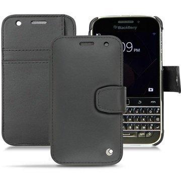 BlackBerry Classic Noreve Tradition B Wallet Nahkakotelo Perpétuelle Musta