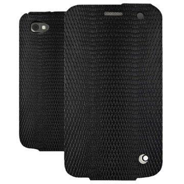 BlackBerry Classic Noreve Tradition Läpällinen Nahkakotelo Horizon Serpent Musta