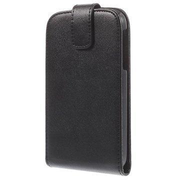 BlackBerry Classic Pystysuuntainen Nahkainen Läppäkotelo Musta