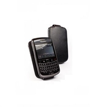 BlackBerry Curve 3G 9300 9500 Tuff-Luv In-Genius Nahkakotelo Musta