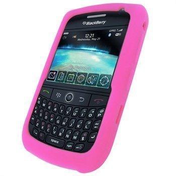 BlackBerry Curve 8520 Curve 3G 9300 iGadgitz Silikonikotelo Pinkki