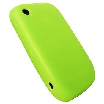 BlackBerry Curve 8520 Curve 3G 9300 iGadgitz Silikonikotelo Vihreä