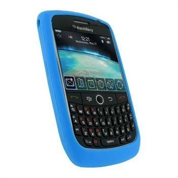 BlackBerry Curve 8900 Silicone Case Blue