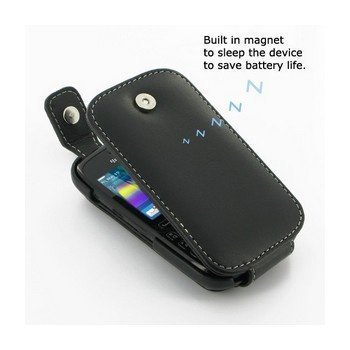 BlackBerry Curve 9220 PDair Leather Case 3BBB92T41 Musta