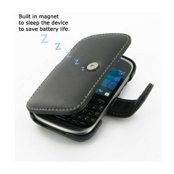 BlackBerry Curve 9320 PDair Leather Case 3BBB9CB41 Musta