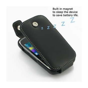 BlackBerry Curve 9320 PDair Leather Case 3BBB9CT41 Musta