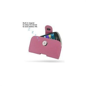 BlackBerry Curve 9320 PDair Vaakakotelo Nahka Vaaleanpunainen