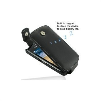 BlackBerry Curve 9380 PDair Leather Case 3BBBU9T41 Musta