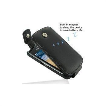 BlackBerry Curve 9380 PDair Leather Case 3BBBU9T41 Musta