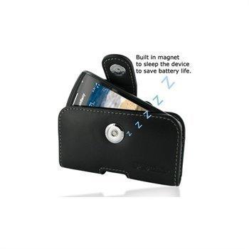 BlackBerry Curve 9380 PDair Vaakakotelo Nahka Musta