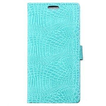 BlackBerry DTEK50 Krokotiili Lompakkokotelo Syaani