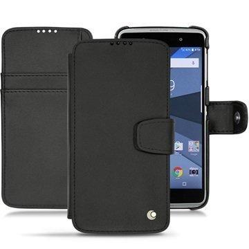 BlackBerry DTEK50 Noreve Tradition B nahkainen lompakkokotelo Musta