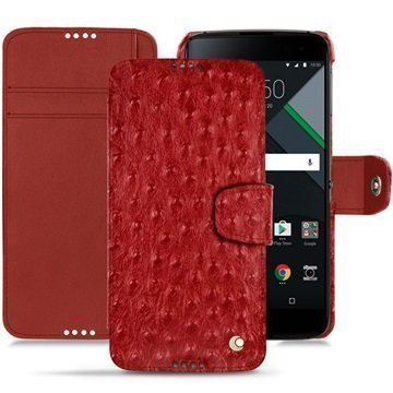 BlackBerry DTEK60 Noreve Tradition B Wallet Case Autruche Kirsikanpunainen