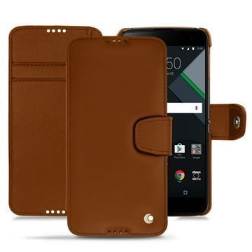 BlackBerry DTEK60 Noreve Tradition B Wallet Case Ruskea