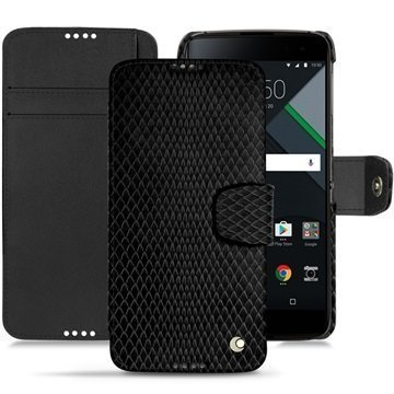 BlackBerry DTEK60 Noreve Tradition B Wallet Case Serpent Musta