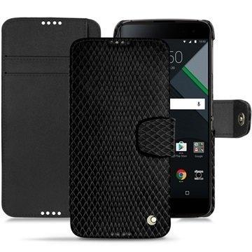 BlackBerry DTEK60 Noreve Tradition B Wallet Case Serpent Musta