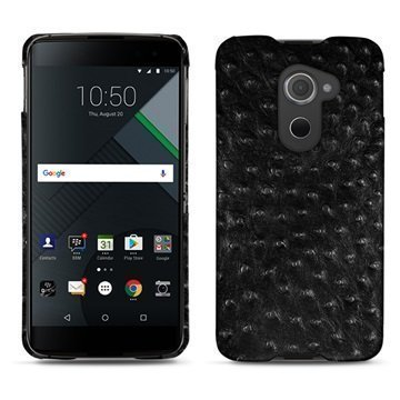BlackBerry DTEK60 Noreve Tradition E Cover Autruche Black