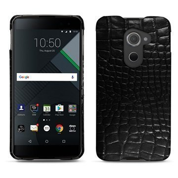BlackBerry DTEK60 Noreve Tradition E Cover Crocodile Black