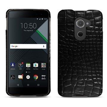 BlackBerry DTEK60 Noreve Tradition E Cover Crocodile Black