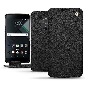 BlackBerry DTEK60 Noreve Tradition Flip Case Eebenpuunmusta
