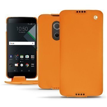 BlackBerry DTEK60 Noreve Tradition Flip Case Oranssi