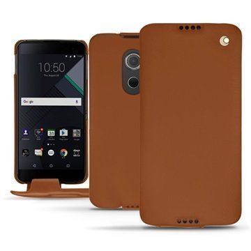 BlackBerry DTEK60 Noreve Tradition Flip Case Ruskea