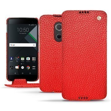 BlackBerry DTEK60 Noreve Tradition Flip Case Tomaatinpunainen