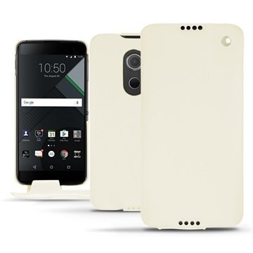 BlackBerry DTEK60 Noreve Tradition Flip Case Valkoinen