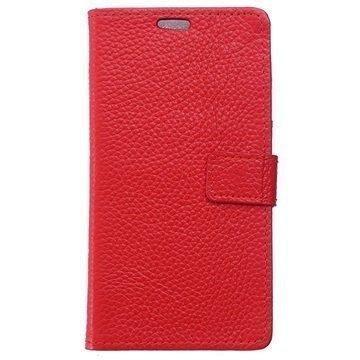 BlackBerry Leap Kuvioitu Nahkainen Lompakkokotelo Punainen