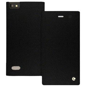 BlackBerry Leap Noreve Tradition D Läpällinen Nahkakotelo Ambition Pikimusta