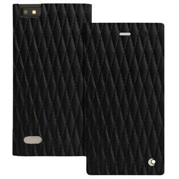 BlackBerry Leap Noreve Tradition D Läpällinen Nahkakotelo Perpétuelle Couture Musta